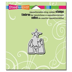 Stampendous - Cling Mounted Rubber Stamp - Tiny Nativity