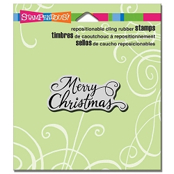 Stampendous - Cling Mounted Rubber Stamp - Merry Scrolls