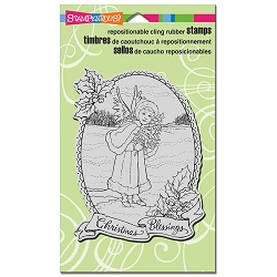 Stampendous - Cling Mounted Rubber Stamp - Angel Blessing