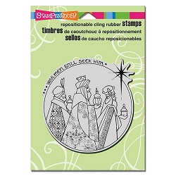 Stampendous - Cling Mounted Rubber Stamp - Wisemen Seek Him