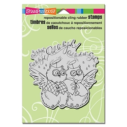 Stampendous - Cling Mounted Rubber Stamp - Owl Hallelujah
