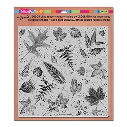 Stampendous Decor Cling Background Stamp - Leaves