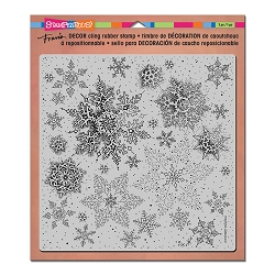 Stampendous Decor Cling Background Stamp - Snowflakes