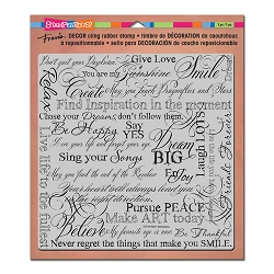 Stampendous Decor Cling Background Stamp - Dream