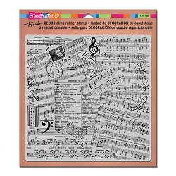 Stampendous Decor Cling Background Stamp - Music