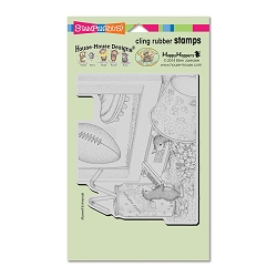 Stampendous Cling Mounted Rubber Stamps - House Mouse Designs - Game Day Rubber Stamp