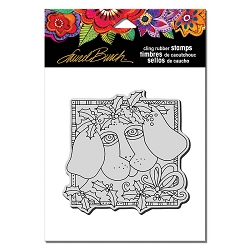 Stampendous - Laurel Burch - Cling Rubber Stamp Holly Pup
