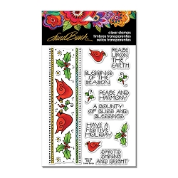 Stampendous - Laurel Burch - Cardinal Border Perfectly Clear Stamps