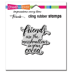 Stampendous - Cling Marshmallow Friends Rubber Stamp