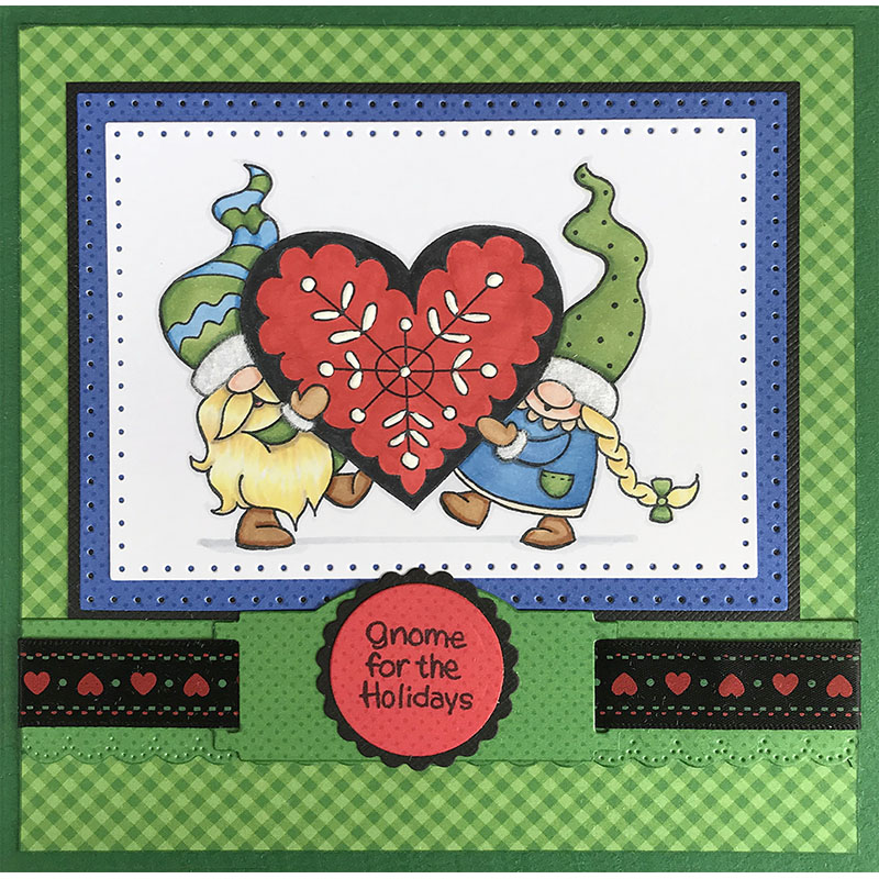 Stampendous CRP335 Cling Stamp-Gnome Love