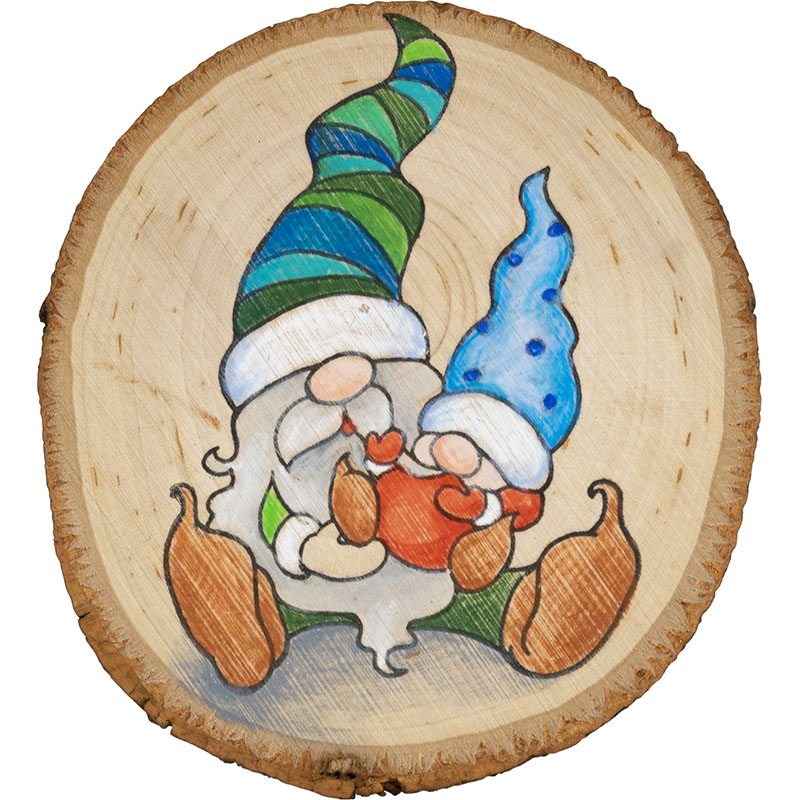 Stampendous CRP336 Cling Stamp-Papa Gnome /& Baby