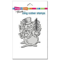 Stampendous - Cling Snowman Smile Rubber Stamp