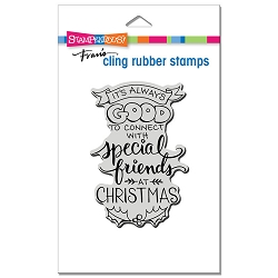 Stampendous - Cling Always Friends Rubber Stamp
