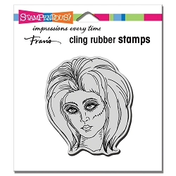 Stampendous - Cling Zombie Girl Rubber Stamp