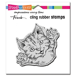 Stampendous - Cling Cat Attack Rubber Stamp