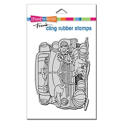 Stampendous - Cling Autumn Truck Rubber Stamp