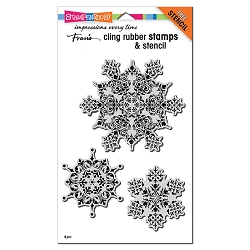 Stampendous - Cling Intricate Snowflakes Rubber Stamp Set