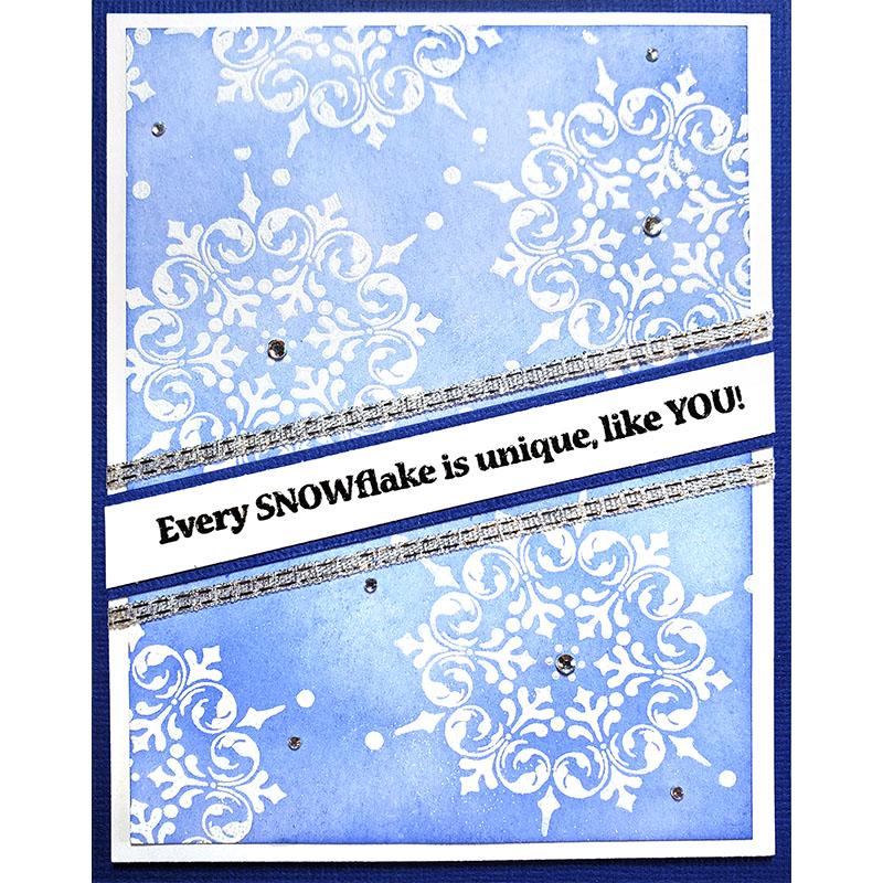 Inkadinkado Winter Snow Flake Swirls Flower Cling Rubber Stamp