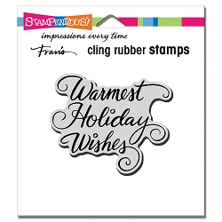 Stampendous - Cling Warmest Holiday Rubber Stamp