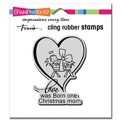 Stampendous - Cling Christmas Morn Rubber Stamp