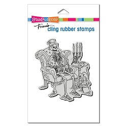 Stampendous - Cling Seated Skeleton Rubber Stamp