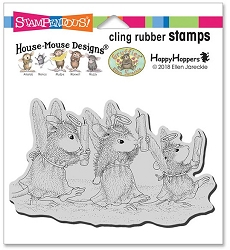 Stampendous - Cling House Mouse Angel Procession Rubber Stamp