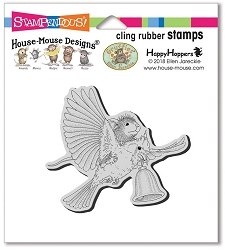 Stampendous - Cling House Mouse Cardinal Bell Rubber Stamp