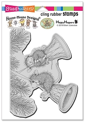 Stampendous - Cling House Mouse Bell Swinging Rubber Stamp