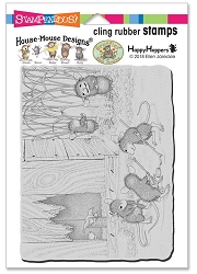 Stampendous - Cling House Mouse Mice Hockey Rubber Stamp
