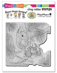 Stampendous - Cling House Mouse Squirrel Singers Rubber Stamp