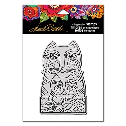 Stampendous - Laurel Burch Cling Feline Love Rubber Stamp