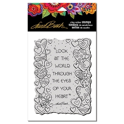 Stampendous - Laurel Burch Cling Heart View Rubber Stamp