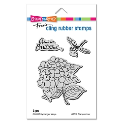 Stampendous - Hydrangea Wings Cling Rubber Stamp Set