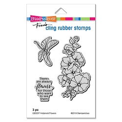 Stampendous - Hollyhock Flowers Cling Rubber Stamp Set