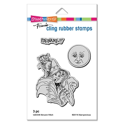 Stampendous - Beware Witch Cling Rubber Stamp Set