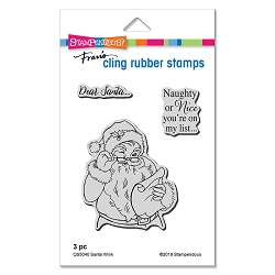 Stampendous - Santa Wink Cling Rubber Stamp Set