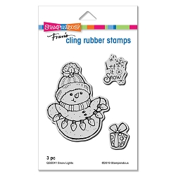 Stampendous - Snow Lights Cling Rubber Stamp Set