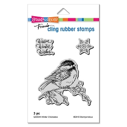 Stampendous - Winter Chickadee Cling Rubber Stamp Set