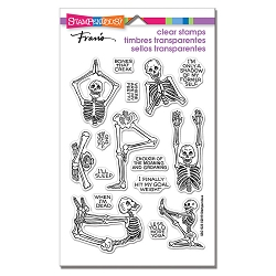 Stampendous - Skeleton Yoga Perfectly Clear Stamps