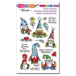 Stampendous - Holiday Gnomes Perfectly Clear Stamps