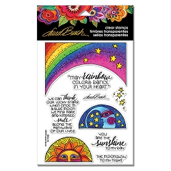 Stampendous - Laurel Burch Rainbow Moon Perfectly Clear Stamps