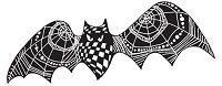 Stampendous - Cling Mounted Rubber Stamp - Pen Pattern Bat