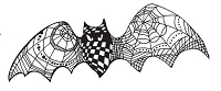 Stampendous - Cling Mounted Rubber Stamp - Doodle Bat