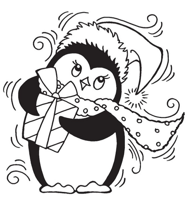 Stampendous - Cling Mounted Rubber Stamp - Penguin