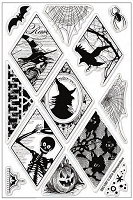 Stampendous Perfectly Clear Stamp - Halloween Diamonds