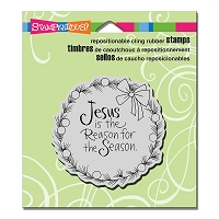 Stampendous Cling Mounted Rubber Stamps - Jesus Wreath