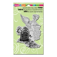 Stampendous Cling Mounted Rubber Stamps - Owl Tombstone