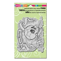 Stampendous Cling Mounted Rubber Stamps - Penpattern Skull