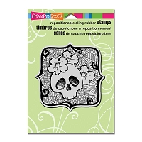 Stampendous Cling Mounted Rubber Stamps - Skull Ghoul