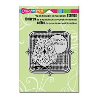 Stampendous Cling Mounted Rubber Stamps - Harvest Owl